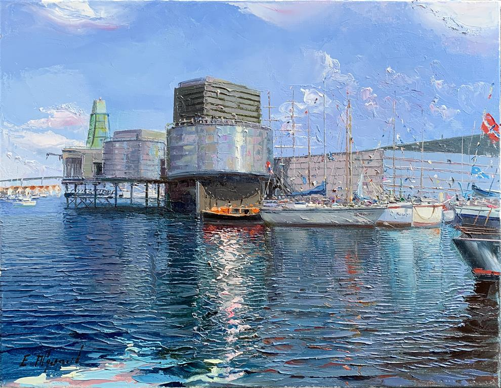 Oljemuseet Oljemaleri (50x65 cm) kr 38000 ur