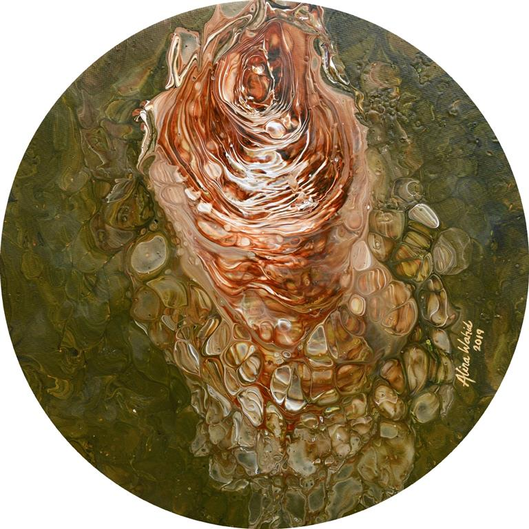 Coral Cluster Akrylmaleri (d = 30 cm) kr 1500 ur