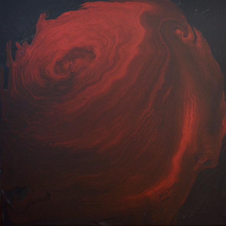 Dark Scarlet Akrylmaleri (40x40 cm) kr 2500 ur