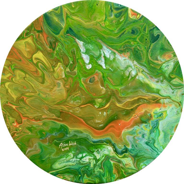 Flourishing Akrylmaleri (d = 25 cm) kr 1200 ur