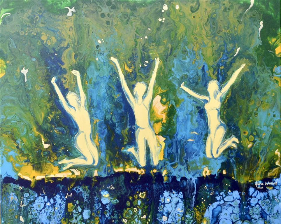 Happiness Akrylmaleri (50x61 cm) kr 5000 ur