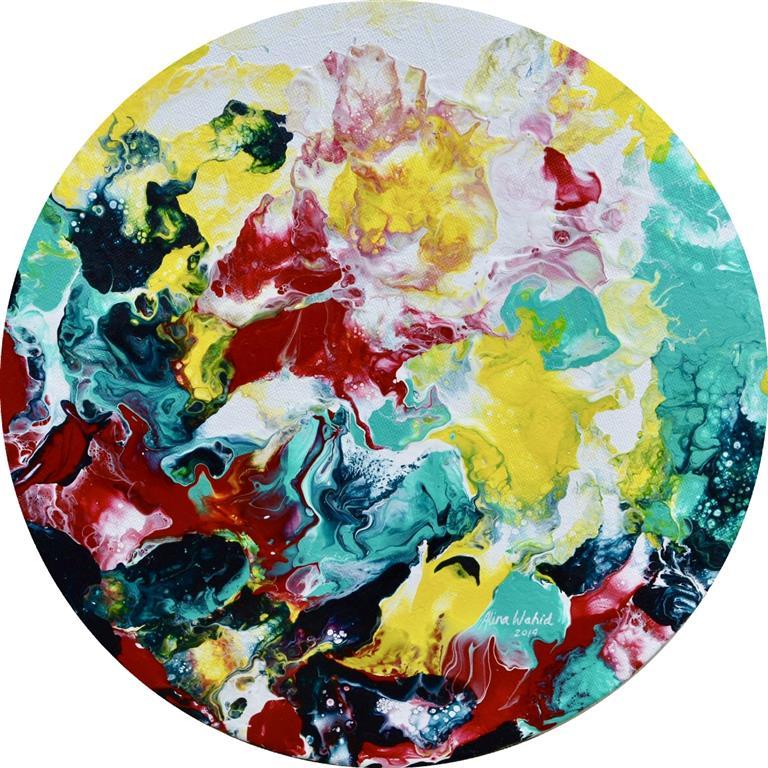 Hued Puddle Akrylmaleri (d =  30 cm) kr 2000 ur