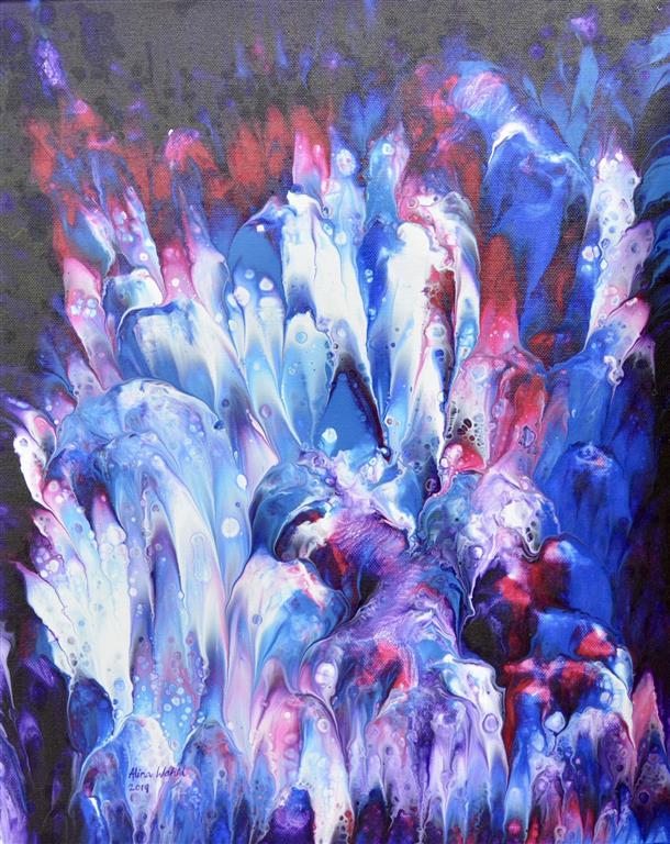Lavender Bunch II Akrylmaleri (41x33 cm) kr 2000 ur
