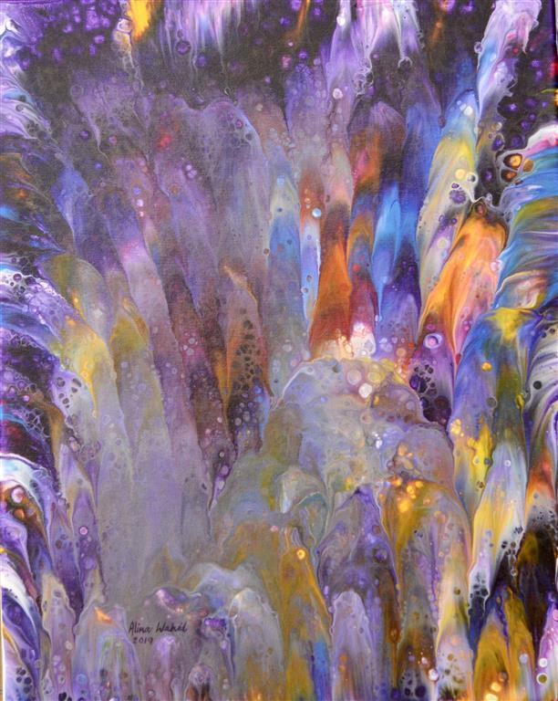 Lavender Bunch III Akrylmaleri (41x33 cm) kr 2000 ur