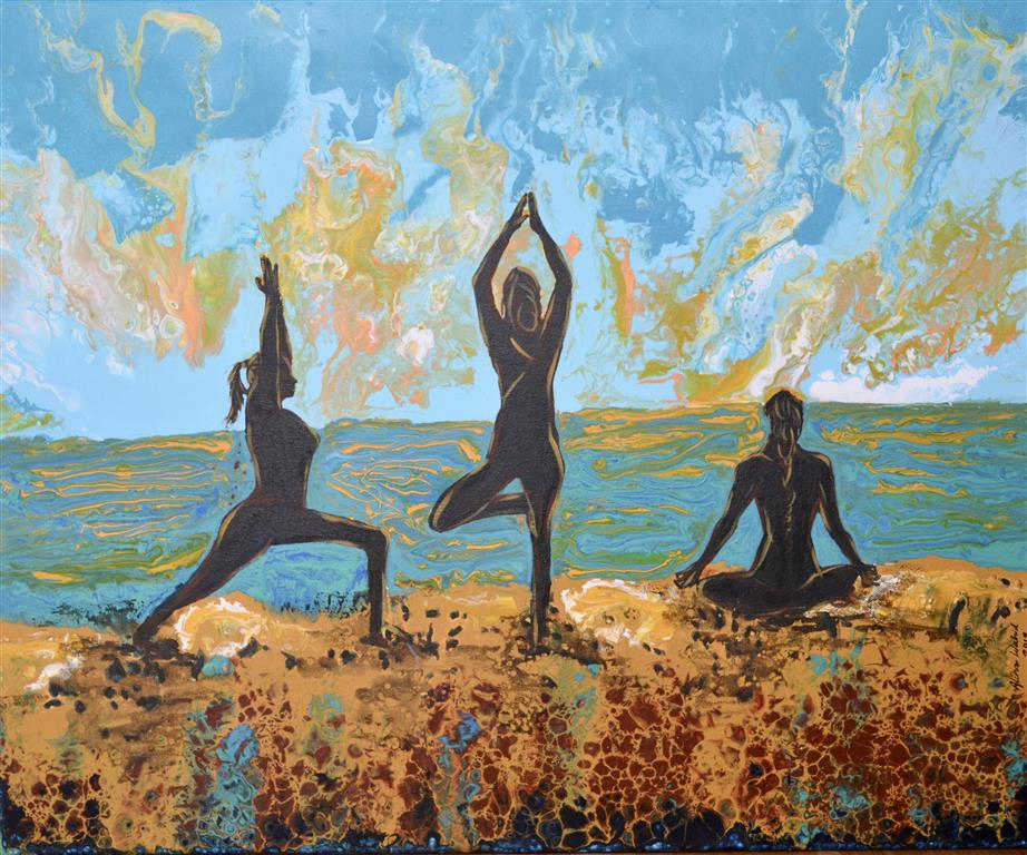 Meditation Akrylmaleri (50x61 cm) kr 6500 ur