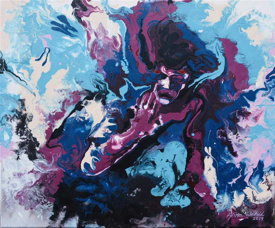 Prospect Akrylmaleri (46x55 cm) kr 5000 ur