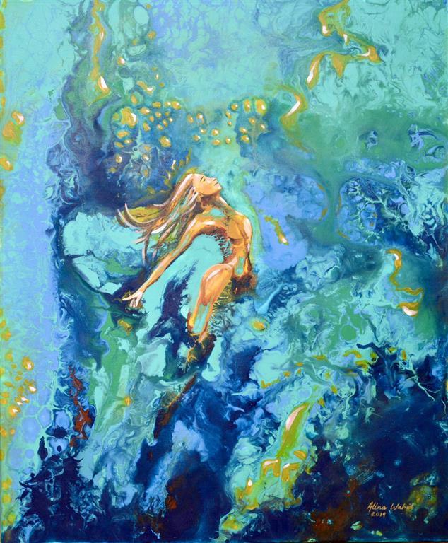 Shine Akrylmaleri (55x46 cm) kr 6000 ur