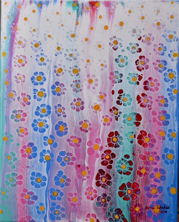 Spring Garden II Akrylmaleri (41x32 cm) kr 3000 ur
