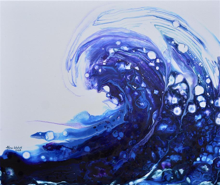 Violet Wave Akrylmaleri (38x46 cm) kr 2500 ur