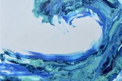 Aqua Wave Akrylmaleri (38x46 cm) kr 2500 ur