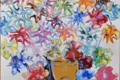 Crown Akrylmaleri (61x50 cm) kr 6000 ur