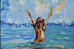 Free Akrylmaleri (55x46 cm) kr 6000 ur