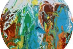 Hued Stream Akrylmaleri (d = 35 cm) kr 2500 ur