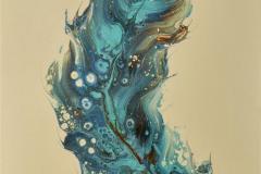 Marine Feather Akrylmaleri (35x27 cm)