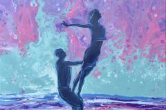 Togetherness Akrylmaleri (61x50 cm) kr 5500 ur