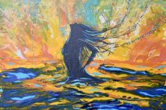 Untied Akrylmaleri (55x46 cm) kr 6000 ur