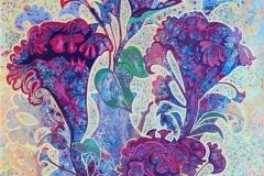 Blomster Akrylmaleri 104,5x75.5 cm 10000 ur