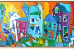 AB181 Akrylmaleri (33x73 cm) kr 3800 mr