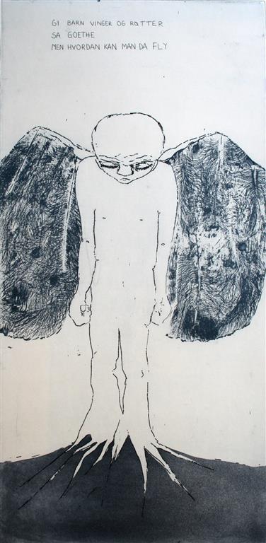 Goethe er teit Etsning 69,5x34,5 cm 3000 ur