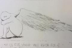 Om egg fekk vingar Etsning (34x57 cm) kr 2400 ur