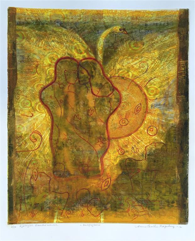 Gullfuglen Dyptrykk, bl. tk (40x33 cm) kr 3500 ur
