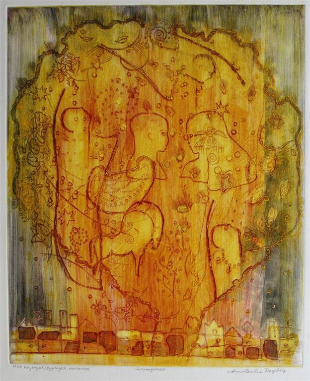 Gullpengetreet Etsning 46x37,5 cm 3800 ur