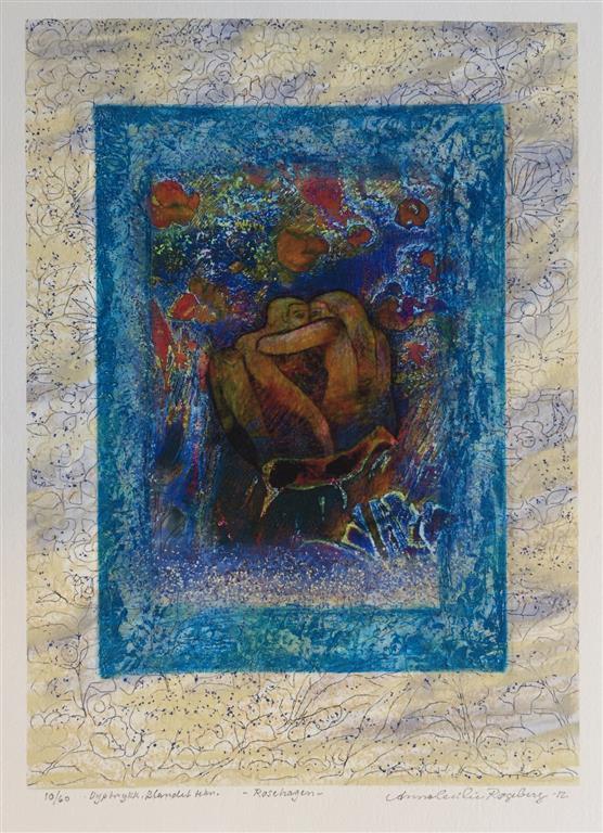 Rosehagen Dyptrykk, bl. tk. (29x21 cm) kr 1600 ur