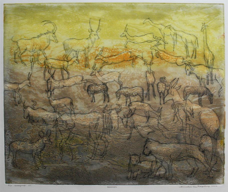 Serengeti Collagrafi 37,5x45,5 cm 3400 ur