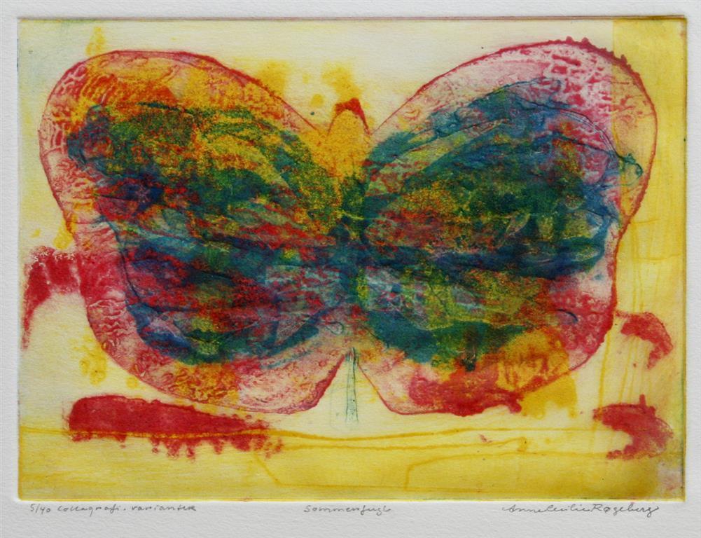 Sommerfugl Collagrafi 16x22 cm 1000 ur