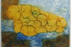 Hestefortelling Collagrafi (variant) 38x46 cm 3500 ur