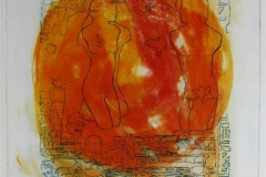 Soloppgang II Collagrafi 45,5x37,5 cm 3800 ur