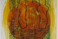 Soloppgang II (variant) Collagrafi 45,5x37,5 cm 3800 ur