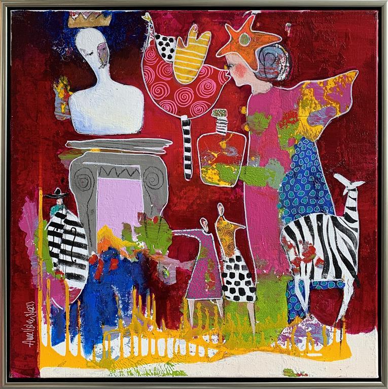 11. Hun er en engel Akrylmaleri (60x60 cm) kr 6500 mr