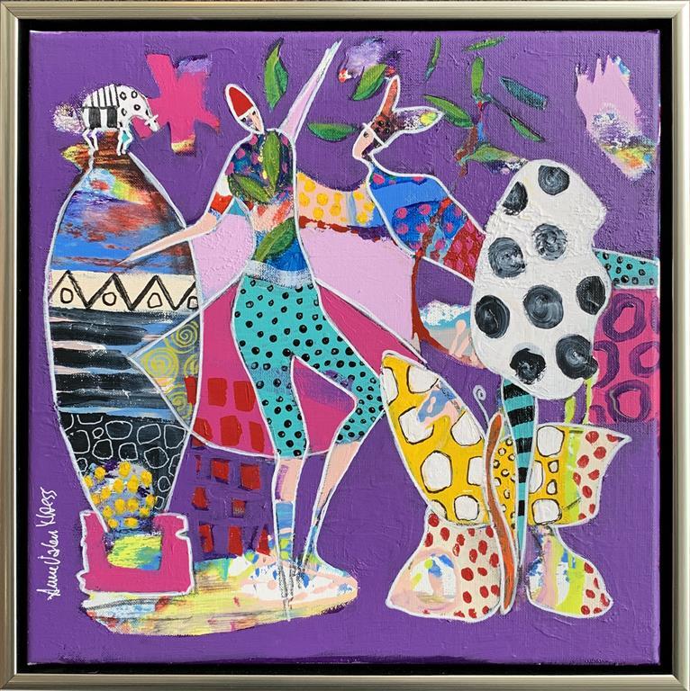 29. Ballerinarefleksjoner Akrylmaleri (40x40 cm) kr 4500 mr