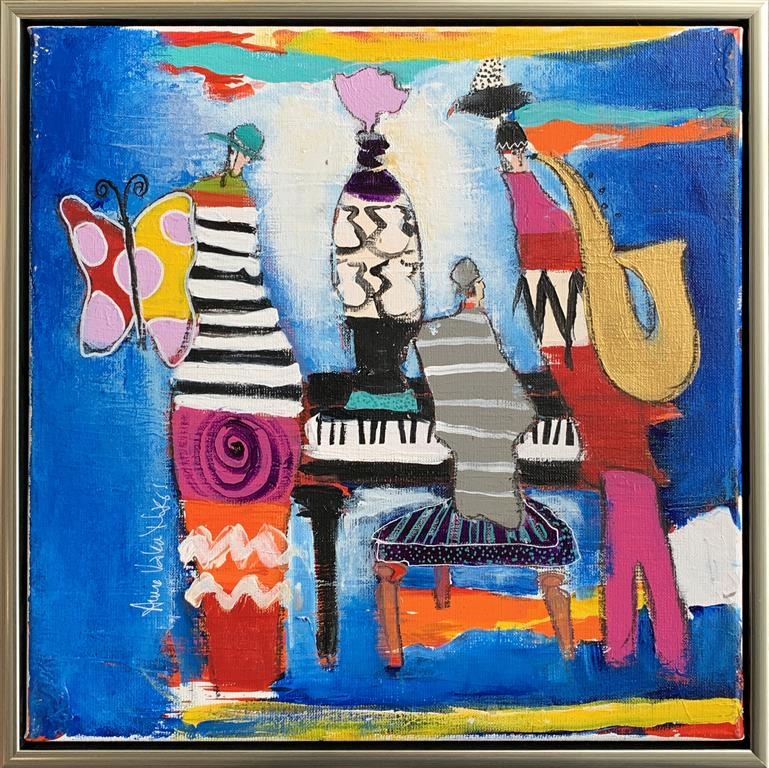 30. Blue Notes Akrylmaleri (40x40 cm) kr 4500 mr