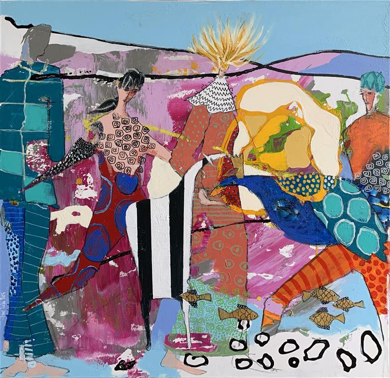 34. Flyvende konge Akrylmaleri (100x100 cm) kr 13000 ur