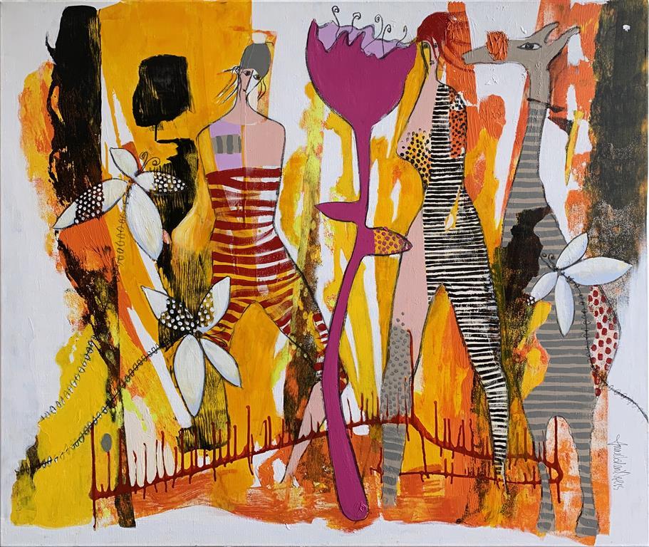 40. Sunny Dawn Akrylmaleri (100x120 cm) kr 15000 ur