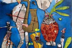 10. My Blues Akrylmaleri (100x100 cm) kr 13000 ur