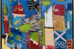 12. På vei hjem Akrylmaleri (60x60 cm) kr 6500 mr