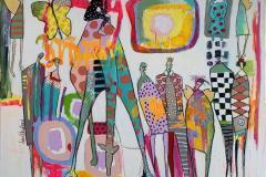 16. Bevingede ord Akrylmaleri (90x116 cm) kr 13000 ur