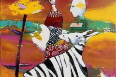 19. Tiden har stått opp Akrylmaleri (100x80 cm) kr 11000 ur