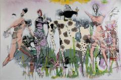 20. Tiden varer hele livet Akrylmaleri (150x100 cm) kr 17000 ur