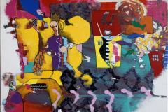 25. Dronningdrømmen Akrylmaleri (100x100 cm) kr 13000 ur