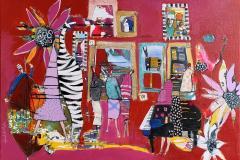 26. Bilder fra et liv Akrylmaleri (70x100 cm) kr 10000 ur