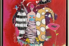 28. Giraffens blomst Akrylmaleri (40x40 cm) kr 4500 mr