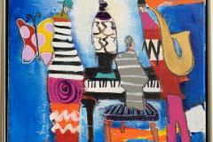 30. Blue Notes Akrylmaleri (40x40 cm) kr 4500 mr