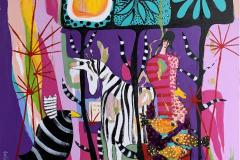 8. En større glede Akrylmaleri (100x100 cm) kr 13000 ur