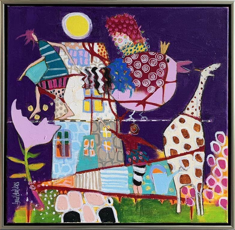 Home is where I want to be Akrylmaleri (60x60 cm) kr 6500 mr