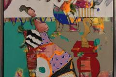 Lykkens venterom Akrylmaleri (60x60 cm) kr 6500 mr