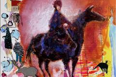 Østenfor tiden Akrylmaleri (80x80 cm) kr 9000 ur